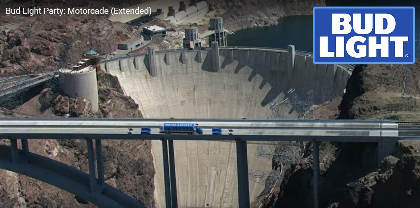 Hoover Dam Going To Break? Must Watch Bud Light Ad!