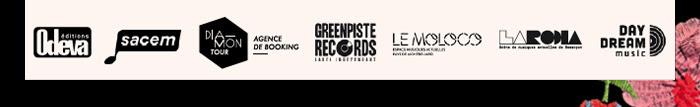Odeva publishing, sacem, diamontour, green piste records, le moloco, la rodia, daydream music