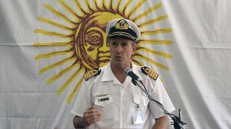 El vocero de la Armada Argentina, Enrique Balbi, en Buenos Aires, el 23 de noviembre de 2017.