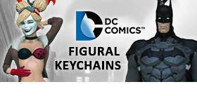 BATMAN AND BOMBSHELLS FIGURAL KEYCHAINS