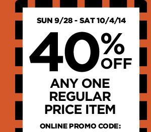 40% OFF Any regular price item