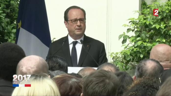"""VIDEO. """"Je laisse un pays dans un état bien meilleur que celui que j'ai trouvé"""", déclare François Hollande au siège du PS"""