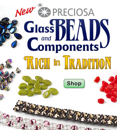 NEW Preciosa Glass Beads &...