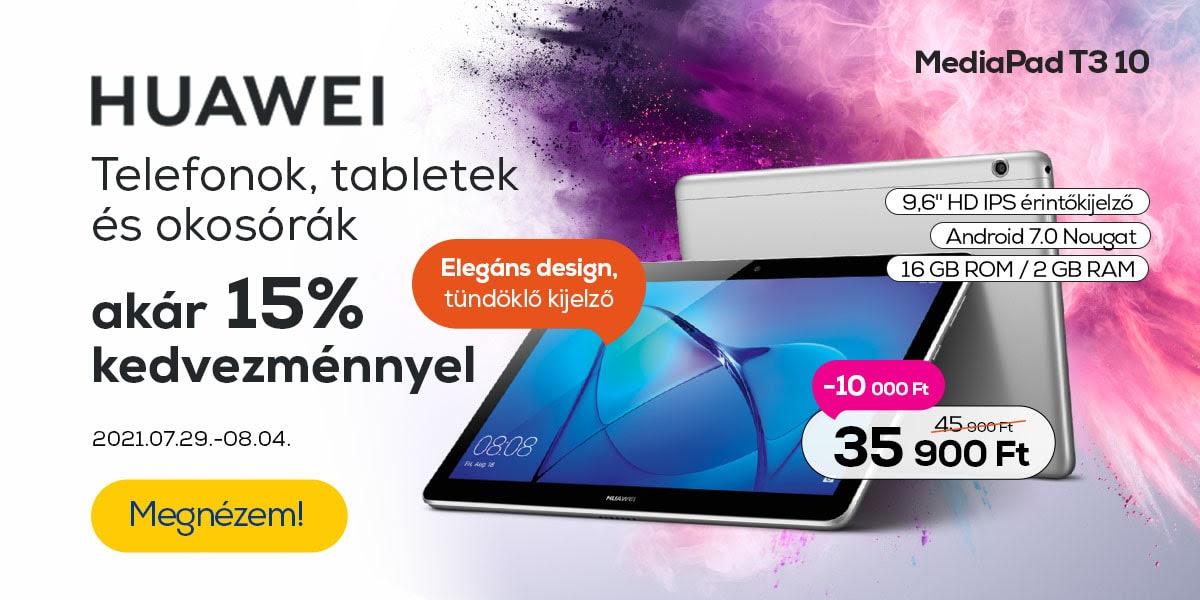 Huawei telefonok és okosórák akár 15% kedvezménnyel