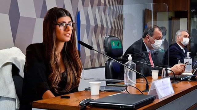 Citada na CPI da Covid, Mia Khalifa publica montagem no Senado