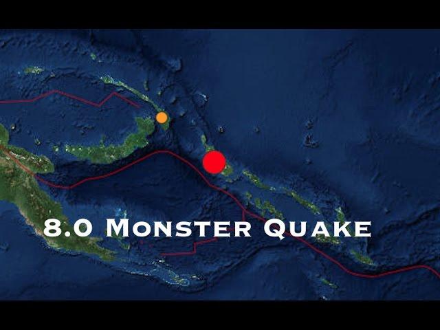 **8.0 Earthquake** Rocks New Guinea  Sddefault