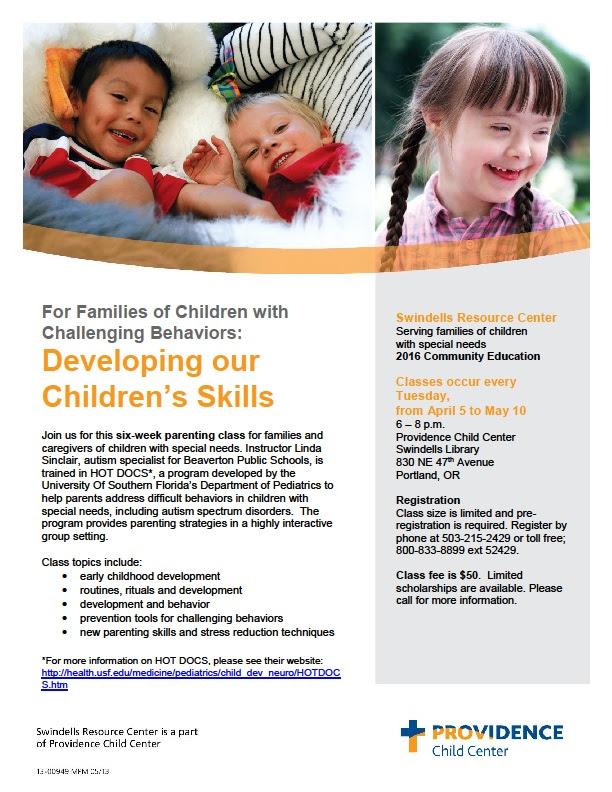 Developing Our Children's Skills (Portland) @ Providence Child Center Swindells Library | Portland | Oregon | United States