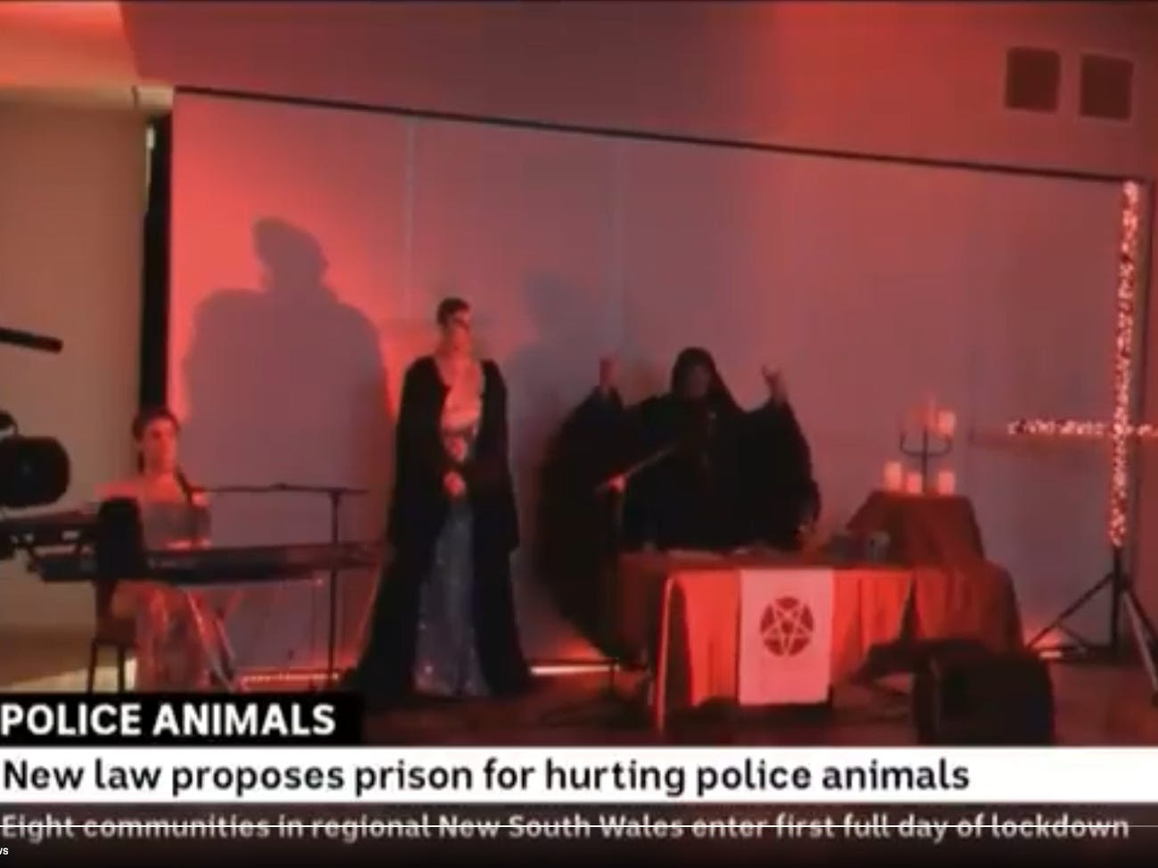 Satanic ritual accidentally included in broadcast on police dog welfare