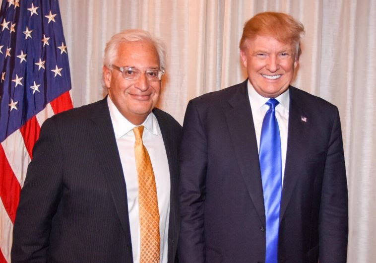 David Friedman with President-elect Donald Trump