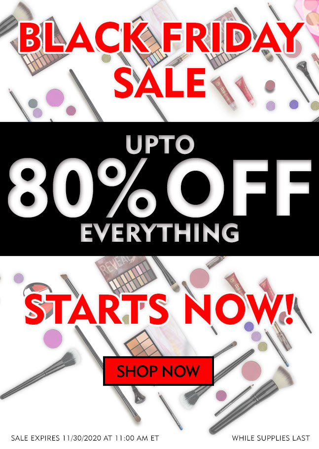 Coastal Scents Black Friday Makeup Sale 80% off!