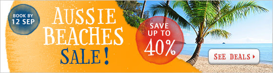 Save up to 40% off Aussie beach hotel sale at Zuji.com.au