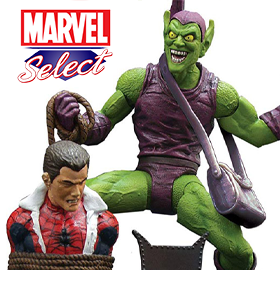 MARVEL SELECT CLASSIC GREEN GOBLIN & MORE